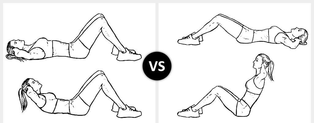 crunches vs sit ups